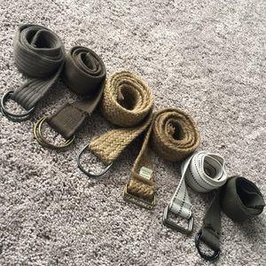 Other - Men's Cargo Short Belts (set of 6)